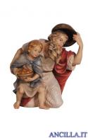Pastore inginocchiato con bambino Mahlknecht serie 9,5 cm