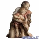 Pastore inginocchiato con bambino Ulrich serie 12 cm