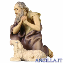 Pastore inginocchiato con pecora Ulrich serie 23 cm