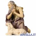 Pastore inginocchiato con pecora Ulrich serie 8 cm