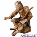 Pastore seduto con bastone Ulrich serie 15 cm
