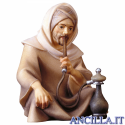 Pastore seduto con pipa-acqua Cometa serie 12 cm