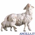 Pecora con agnello dietro Ulrich serie 8 cm