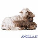 Pecora con agnello sdraiato Ulrich serie 15 cm