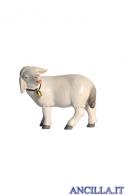 Pecora con campanello testa a sinistra Pema serie 9 cm
