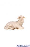 Pecora sdraiata testa a destra Rainell serie 9 cm