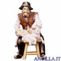 Pecoraio seduto Ulrich serie 10 cm