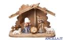Presepio Kostner Capanna Tirolo per Sacra Famiglia - 7 pezzi (modello 2)