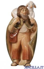 Pastore con agnello in spalla Pema serie 12 cm