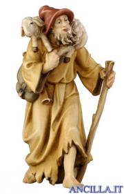 Pastore con agnello in spalla Rainell serie 15 cm