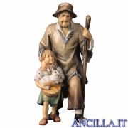 Pastore con bambina Ulrich serie 10 cm