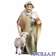Pastore con bastone e pecora Cometa serie 25 cm