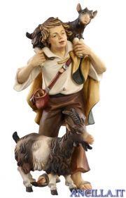 Pastore con due capre Kostner serie 20 cm