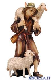 Pastore con due pecore Kostner serie 16 cm