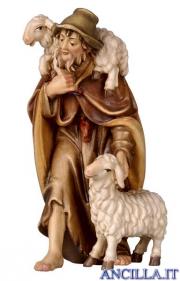 Pastore con due pecore Rainell serie 22 cm