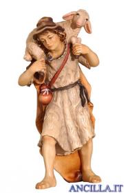 Pastore con pecora in spalla Kostner serie 25 cm