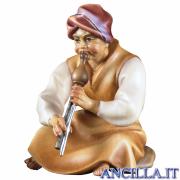 Pastore seduto con flauto Cometa serie 16 cm