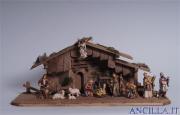 Presepio Mahlknecht Capanna Notte Santa - 15 pezzi