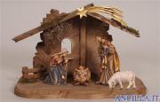 Presepio Kostner Capanna Tirolo per Sacra Famiglia - 7 pezzi (modello 1)
