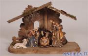 Presepio Kostner Capanna Tirolo per Sacra Famiglia - 8 pezzi