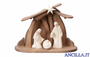 Presepio Leonardo Capanna Pema per Sacra Famiglia - 5 pezzi Naturale