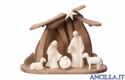 Presepio Leonardo Capanna Pema per Sacra Famiglia - 7 pezzi Naturale