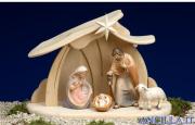 Presepio Pema Capanna Santa Famiglia - 6 pezzi