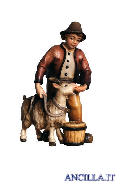 Ragazzo con capra Kostner serie 25 cm