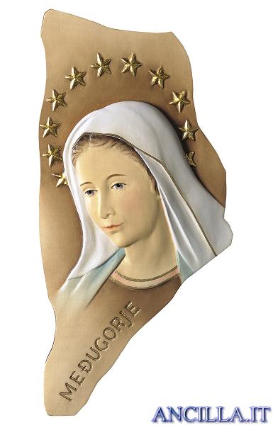 Rilievo Madonna di Medjugorje con stellario