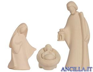 Sacra Famiglia Leonardo serie 10 cm