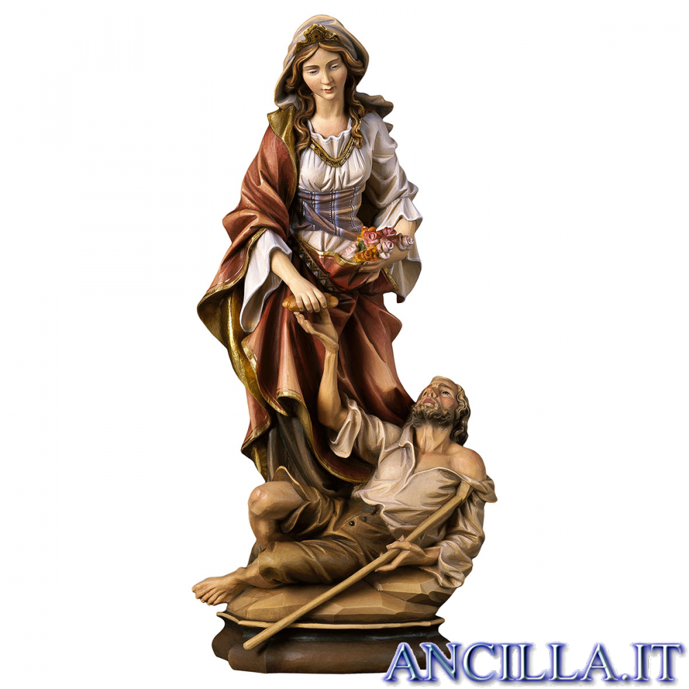 Santa Elisabetta d'Ungheria con mendicante
