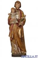 San Giuseppe con Bambino modello 2 anticato oro zecchino e argento