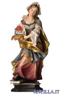 Santa Edwige da Slesia con chiesa