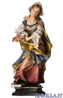Santa Silvia con giglio