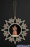 Stella fiocchi di neve e Angelo in piedi con campanello