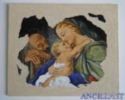 Affresco su tela Sacra Famiglia