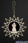 Stella nuvole con Angelo in piedi e albero di Natale