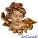 Testa d'Angelo Leonardo con rosa sinistra