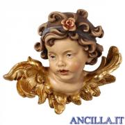 Testa d'Angelo Leonardo con rosa destra