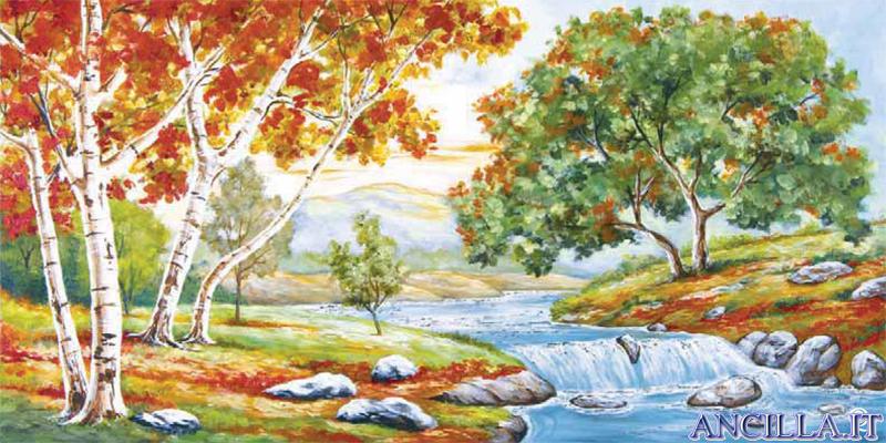 Poesia della natura - decorato su pannello piatto