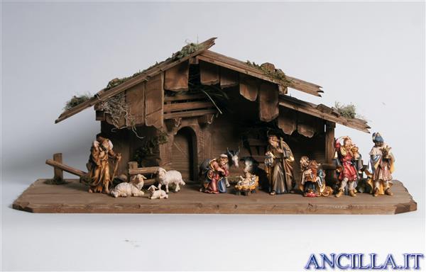 Presepio Rainell Capanna Notte Santa - 14 pezzi
