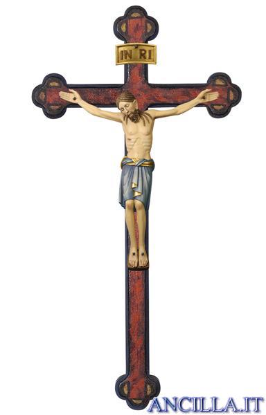 Cristo San Damiano su croce antichizzata barocca