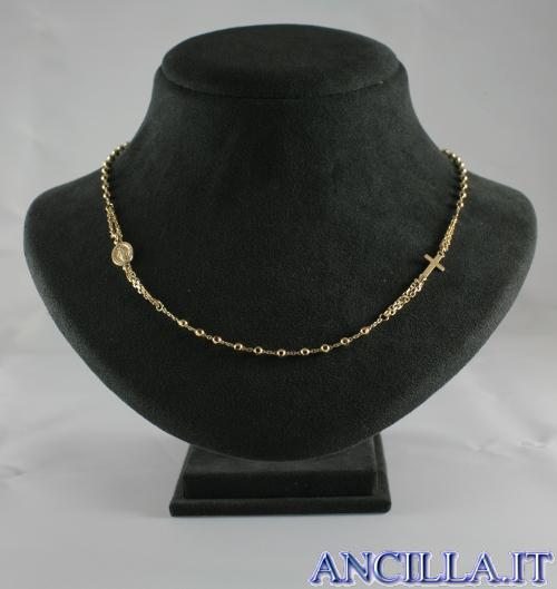 Collana Rosario argento 925°/°° placcato oro
