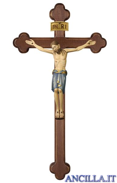 Cristo San Damiano su croce brunita barocca