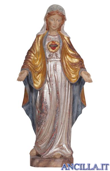 Sacro Cuore di Maria modello 1 anticato oro e argento