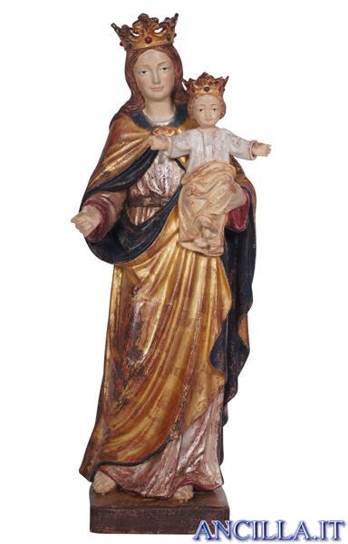 Madonna con Bambino e corona anticata oro e argento