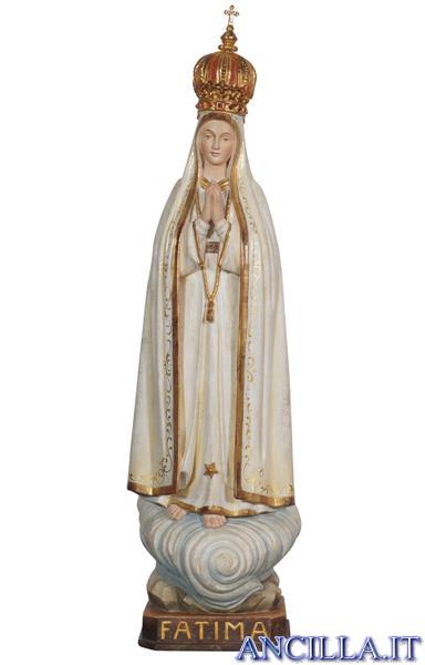 Madonna di Fatima Capelinha con corona rifinitura antica con oro zecchino