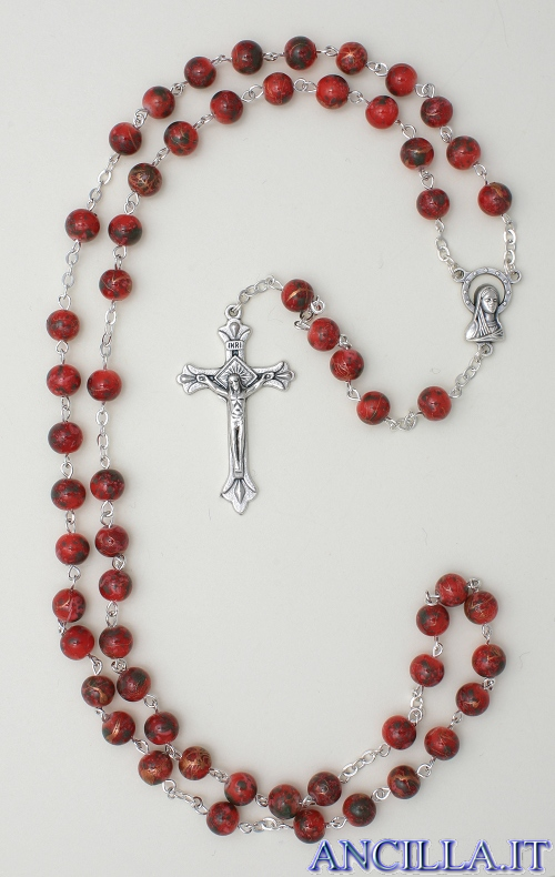 Corona del Rosario con grani in pasta di pietra