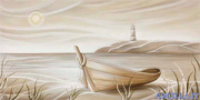 Bagliore - decorato su pannello piatto