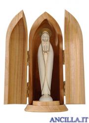 Madonna di Fatima stilizzata filo oro